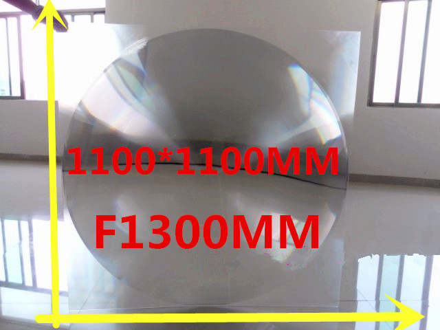 все цены на Big Fresnel lens 1100*1100mm Thickness 3MM Fresnel Lens Focal length 1300mm Temperature can got 1000 Celsius solar cooker онлайн