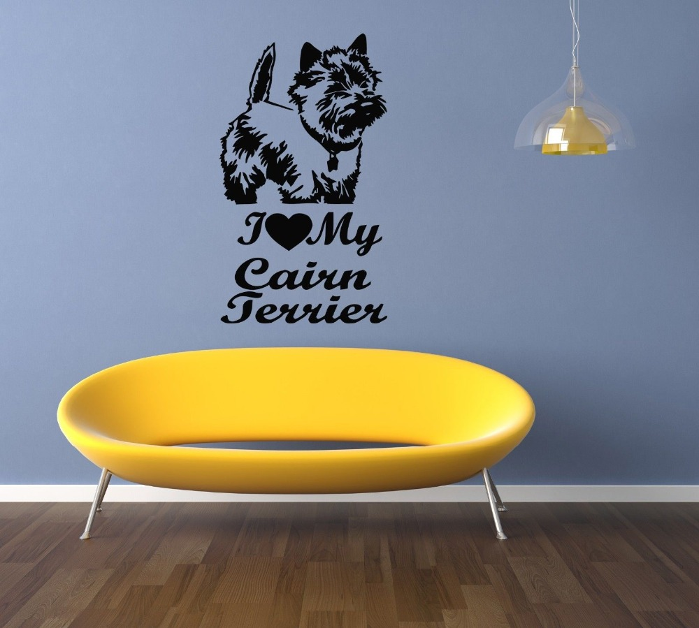 Cairn Terrier Dog Puppy Breed Pet Animal Family Wall Sticker Decal ...
