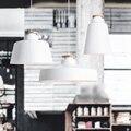 Norte de Europa restaurante bar cafetería Luces de aluminio Luz de Techo de la personalidad simple retro madera Whith Negro lámpara de Techo