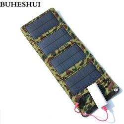 BUHESHUI 7 W energii słonecznej składany ładowarka wyjście USB do ładowania telefonów komórkowych banku mocy mobilna ładowarka darmowa wysyłka