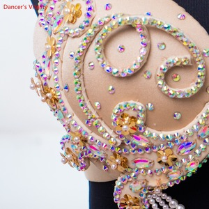 Image 5 - חדש סקסי יוקרה נשים ריקודי בטן חליפת מזרחי חליפת להראות שלב בטן ריקוד ללבוש חצאית מותאם אישית משלוח