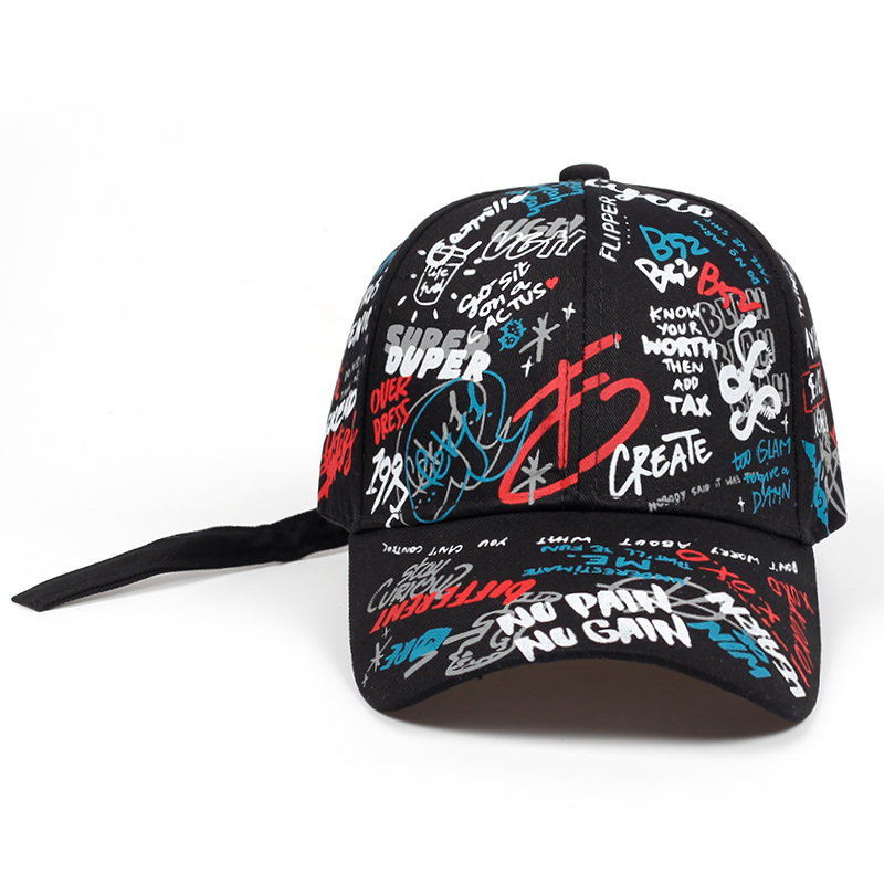 2019 brand Summer   Baseball     Cap   Graffiti Sun   Caps   Hip Hop Visor Spring Hat Adjustable Snap-back Hats For Women golf   caps