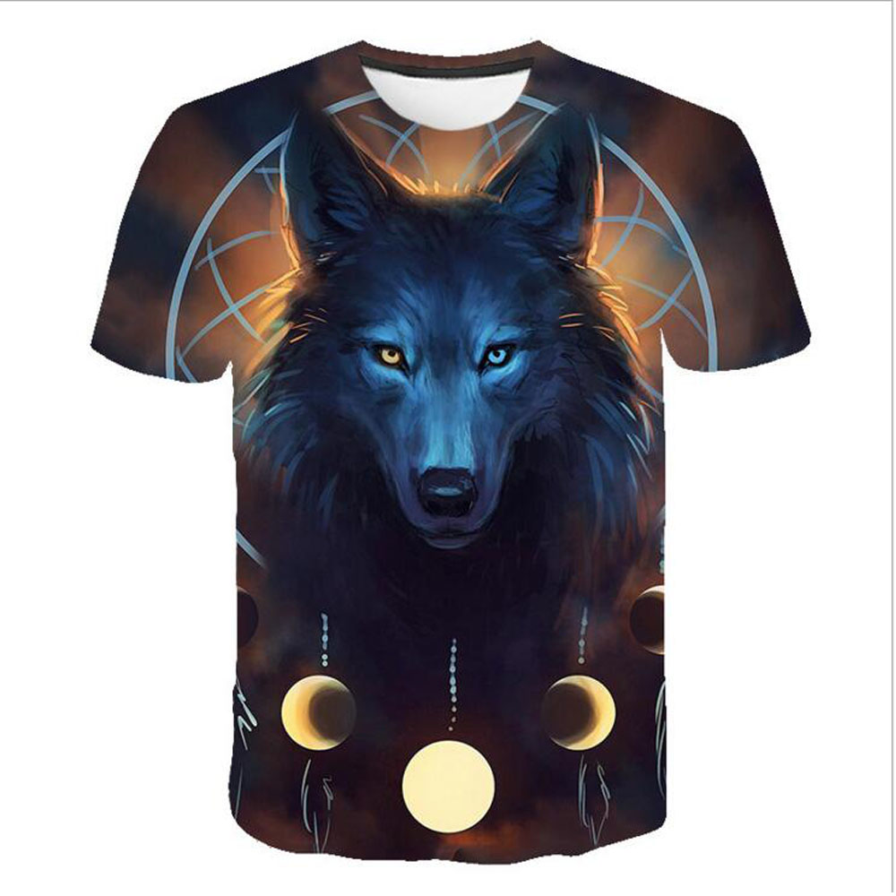 2019 Newest Wolf 3D Print T Shirt Animal Cool Funny T Shirt Men Short Sleeve Summer Tops Tshirt Male Fashion T shirt Male 5XL in T Shirts from Men 39 s Clothing