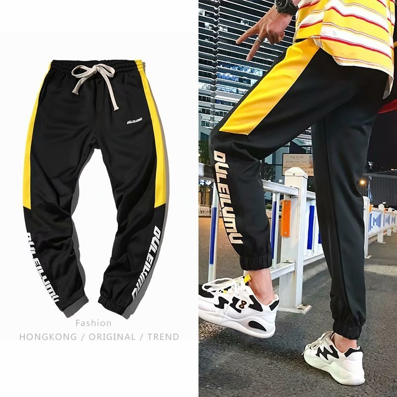 Hiphop Pants Male Easy Street Personality Chao Brand Korean Version Trend Motion Hip Hop Favourite Recommend Free shipping