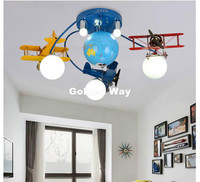 Free Shipping Kids Bedroom Cartoon Surface Mounted Ceiling Light E27 LED Modern Children Ceiling Lamp Remote Controller Included