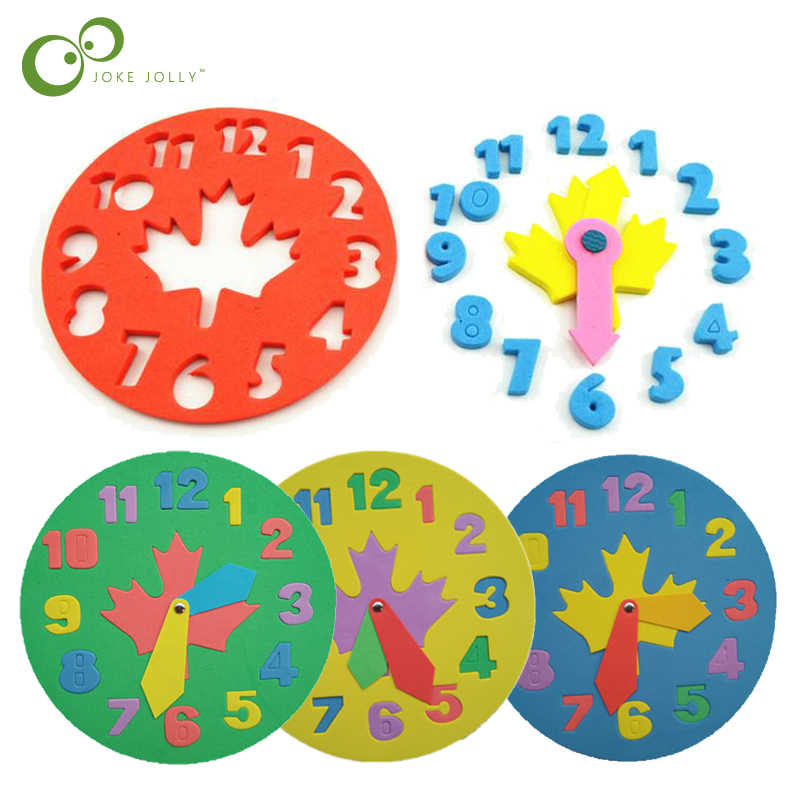 Kids Diy Eva Clock Learning Education Toys Fun Math Game For Children Baby Toy Gifts 3 6 Years Old Gyh Aliexpress