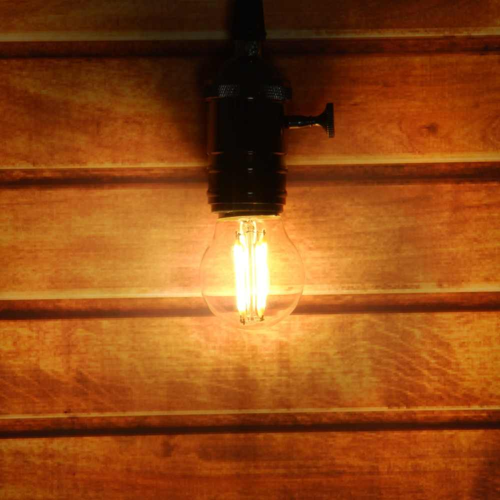 Rétro LED Filament lumière Dimmable E14 E27 G45 A60 Globe Ampoule 1 W 2 W 4 W 8 W 10 W Edison Vintage Ampoule lampe 220 V éclairage intérieur