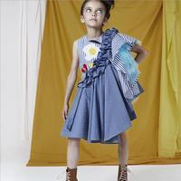 Baby girls dress 2019 summer new princess children dresses modis embroidery kids dress for girls Asymmetrical dress 2 10Y ws346