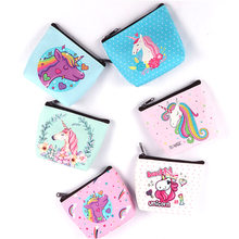 1Pcs Cute Portable Coin Purses Holder Novelty Unicorn Flamingo Women Girl Change Wallets Money Bag Zipper Pouch Free Shipping(China)