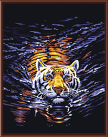 Frameless Picture On Wall Acrylic Oil Painting By Numbers Tiger Abstract Drawing By Numbers Unique Gift