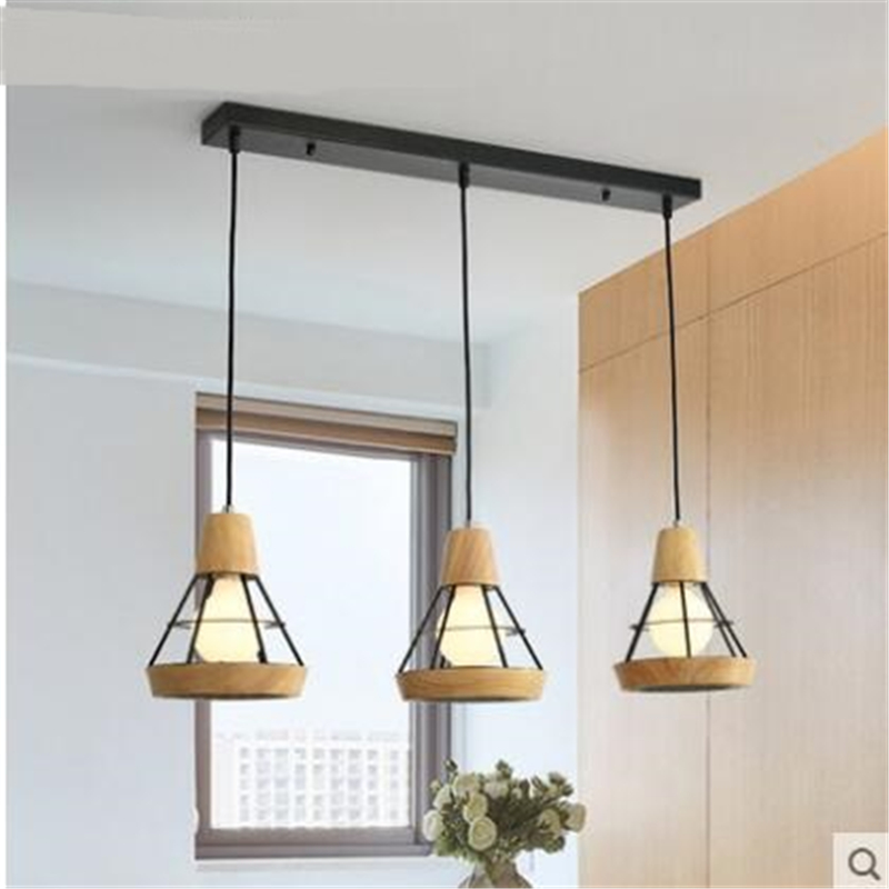 E27 restaurant wooden bar aisle pendant lamp living room bedroom balcony Nordic modern pendant lights MZ12E27 restaurant wooden bar aisle pendant lamp living room bedroom balcony Nordic modern pendant lights MZ12