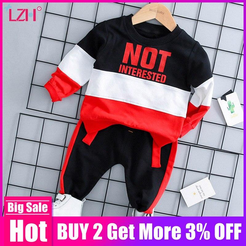 Ropa infantil ropa de Otoño de 2019 primavera bebé niños ropa conjunto T-shirt + Pantalones 2 piezas trajes niños traje de bebé conjunto de ropa de bebé recién nacido