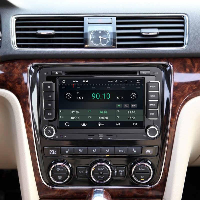 2din アンドロイド 8.1 Gps Autoradio シュコダオクタ 2 パサート B6 VW T5 ポロ Amarok フォルクスワーゲン極上 3 セアト · レオンゴルフ 5 6 マルチメディア