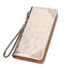 ONEFULL new fashion pu leather women wallets card bag female handbag brand long wallet women zipper coin pocket clutch стоимость