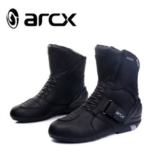 New  ARCX Motorcycle waterproof genuine leather Boots,Racing Boots  , Riding  Road  Boots size 39-45