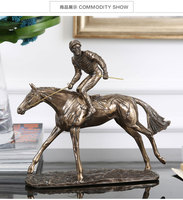 religious western statues Animal horse racing sample room decoration study on horse figure sculpture art crafts sailing