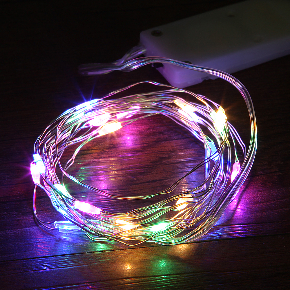 1M 2M Led Silver Wire Fairy Garland Lamp LED String Lights Christmas Wedding Home Party Decoration Powered By CR2032 Battery
