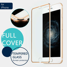 ON SALE  3D Arc Edge Titanium Full Cover Tempered Glass Screen Protector for iPhone 6 6s 7 7 plus Protective Film 4.7 inch 5.5 0 3mm anti uv tempered glass screen film cover for iphone 6s 6 4 7 arc edge black