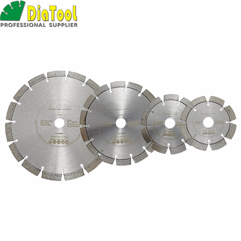 DIATOOL 1pc Professional Laser Welded Diamond Blade Arrayed Diamond Cutting Disc Hard Material Diameter 4.5
