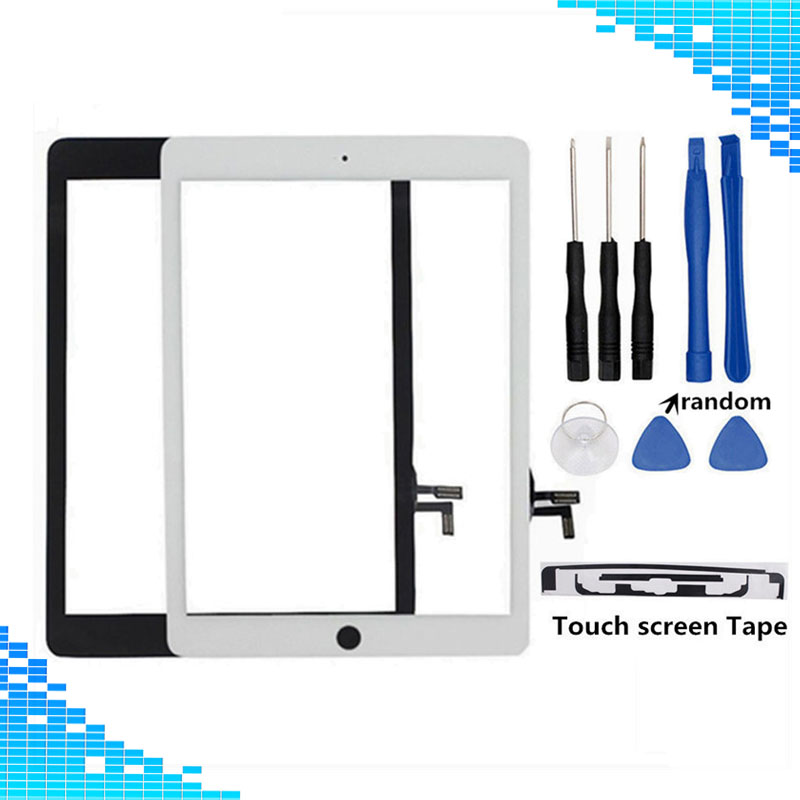 все цены на For ipad 5 Touch Screen Digitizer White/Black for ipad Air A1474 A1475 A1476 A1822 A1823 Touch panel & Adhesive Tape & Tools