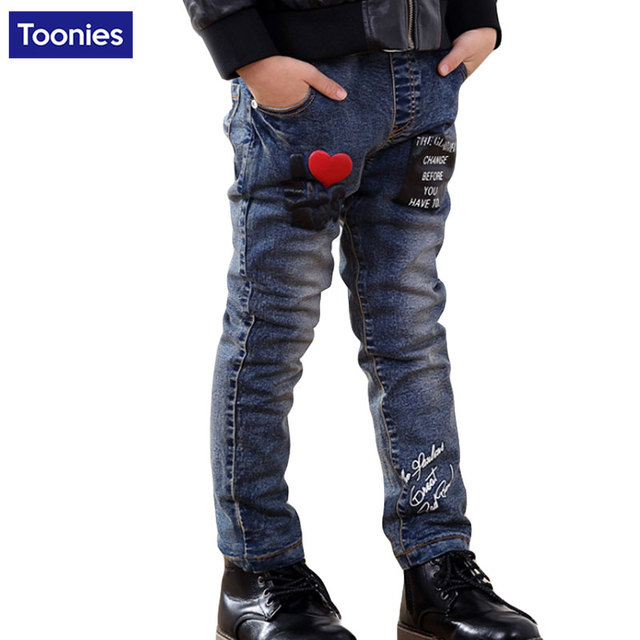 2780665263fc 2017 Children Casual Trousers Baby Boys Jeans Spring Long Denim ...