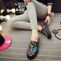 New 2016 Spring Autumn Bohemian Loafers Women Brand Flat Shoes Elegant Casual Canvas Shoes Muffin Bottom Free Shipping Y007