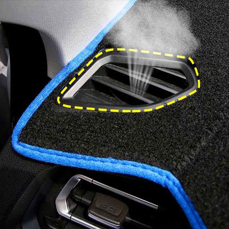 Taijs Mobil Dashboard Cover Dash Mat Dash Board Pad Karpet Dashmat Anti Sinar UV untuk Mitsubishi Pajero Montero 2007-2014 2015 2016 2017
