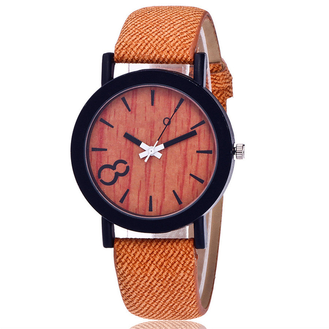 Handcrafted Bamboo Wooden Ladies Quartz Wristwatch 2