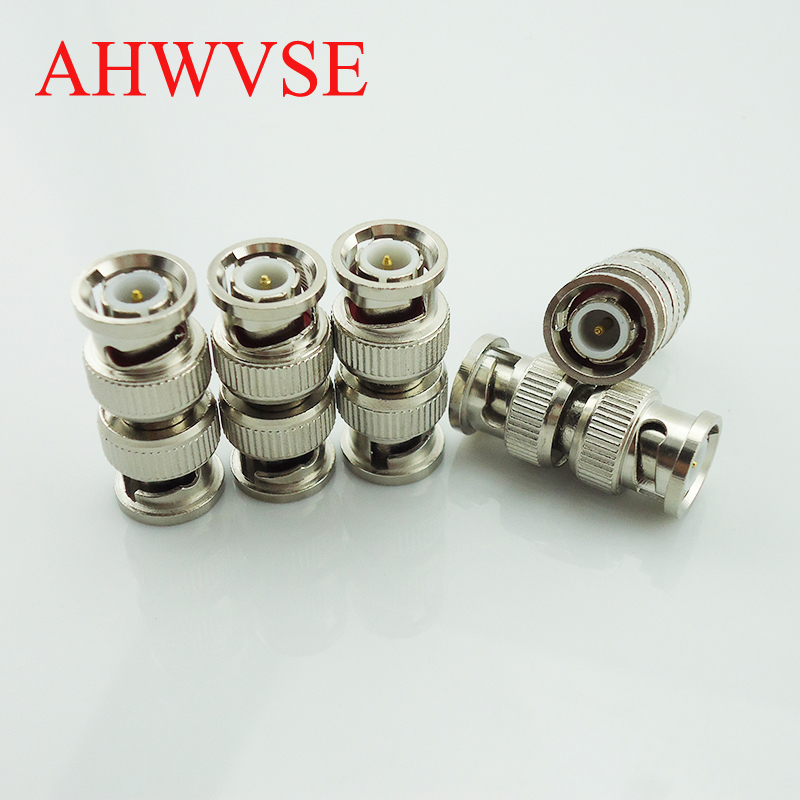 10pcs/lot BNC Male To Male  CCTV Accessories  CCTV Security Coax Coupler Video BNC Connector Adapter RF Convertor