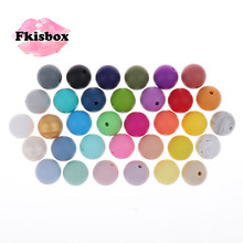 Whosale 12mm Round Silicone Beads 200 Pieces BPA Free Silicone Baby Teether Teething Jewelry Babies Pacifier Chain Accessories