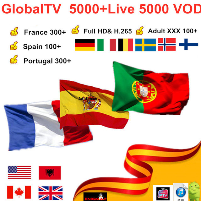 US $10 35 31% OFF GlobalTV 5000+Live 6m /1 Year IPTV subscription for  France Spain Arabic Portugal IPTV Nordic Europe IPTV M3U android smart tv  PC-in