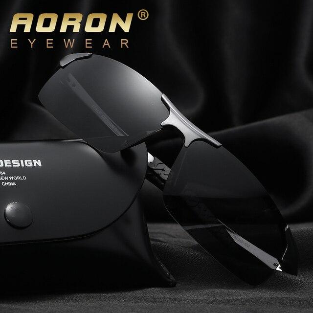 570df1a66b 2017 De Aluminio y magnesio + HD + Polarizado UV400 lente + bisagra Del  Resorte de lujo del logotipo de los hombres Gafas de Sol de Conducción  mujeres ...