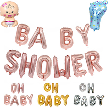 OH BABY Gender Reveal Letter 1st Birthday Foil Balloons it's a boy girl Baby Shower DIY Birthday Party Decorations Kids baby shower boy girl decorations set it s a boy it s a girl oh baby balloons gender reveal kids birthday party baby shower gifts