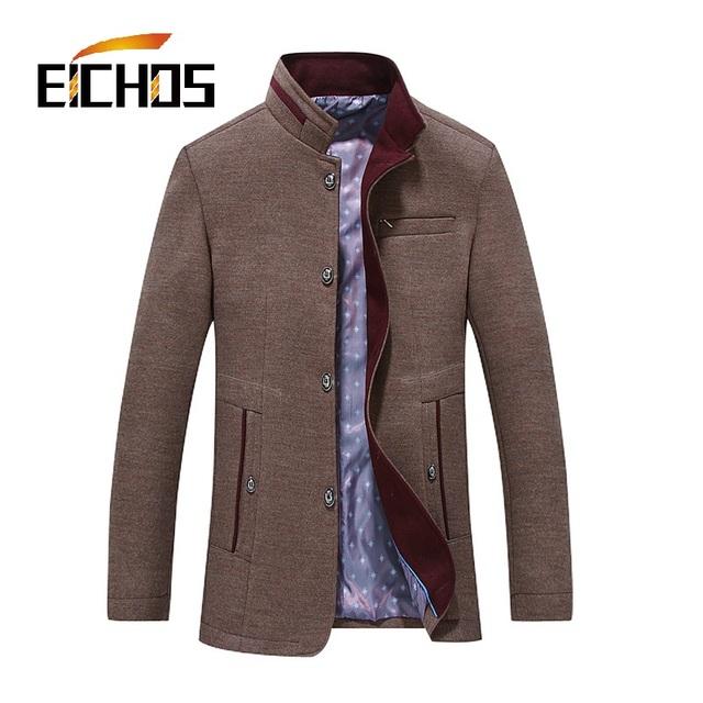 2016 Cashmere Casaco Casaco de Lã dos homens de Negócios Para Homens Outono E Inverno de Lã Casaco Masculino de Lã Tamanho Grande XXXXL jaquetas