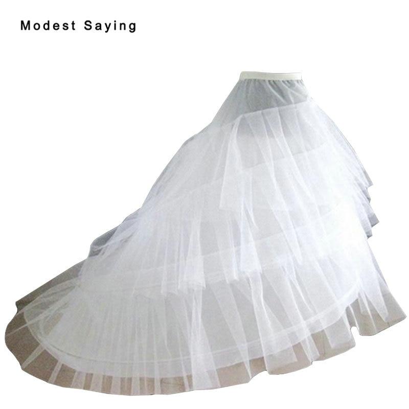 Ambitieus 2017 Hoge Kwaliteit 3 Hoops Slip Petticoat Onderrok Voor Een Lijn Trouwjurk Bruidsjurken Bruiloft Accessoires Crinoline In Voorraad Knappe Verschijning