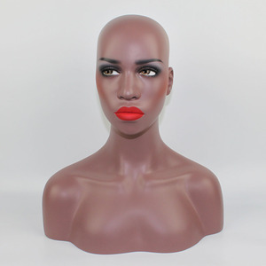 High Quality Fiberglass Realistic Female Mannequin Manikin Dummy Head Bust For Wigs Hat Sunglass Jewelry Display