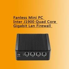 Безвентиляторный Mini PC J1900 Quad Core 4 * Intel WG82583 Gigabit Lan Firewall многофункциональный Маршрутизатор Сетевой Безопасности Рабочего Стола