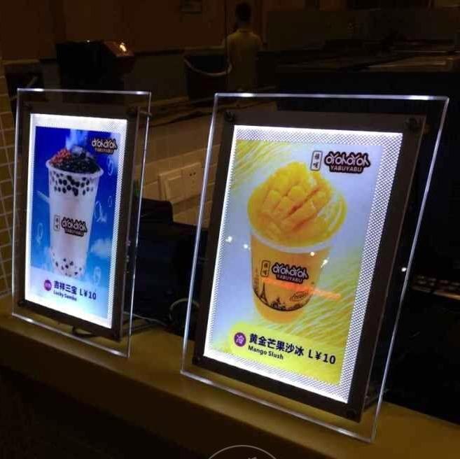 led restaurant menu boards advertising led light box sign acrylic