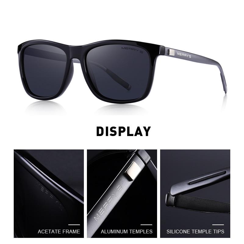 MERRYS Unisex Retro Aluminium Sonnenbrille Polarisierte Linse Vintage - Bekleidungszubehör - Foto 3