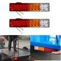 2 PCS 12 V Caravana Caminhões Reboque Levou Cauda Luzes Traseiras LED Turn Signal Reversa Luz Barco