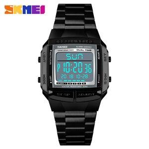 Image 3 - SKMEI יוקרה מותג ספורט שעונים גברים של שעון 5 מעורר ספירה לאחור אלקטרוני דיגיטלי שעון יד אופנה חיצוני שעון גברים Relogio