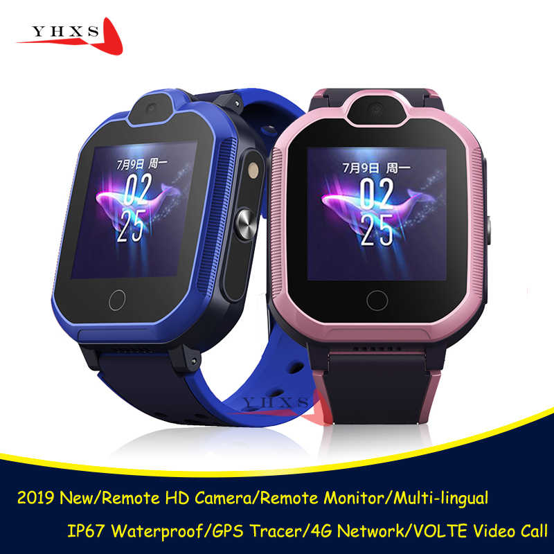 2019 New IP67 Waterproof Smart 4G Remote Camera GPS WI-FI Kids Students Wristwatch SOS Video Call Monitor Tracker Location Watch