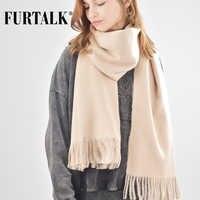 FURTALK laine cachemire écharpe pour femmes hommes hiver cachemire Poncho écharpes de luxe marque châle Pashmina foulard femme