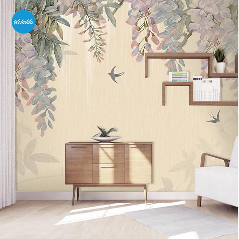 XCHELDA Custom 3D Wallpaper Design Swallows Photo Kitchen Bedroom Living Room Wall Murals Papel De Parede Para Quarto kalameng custom 3d wallpaper design street flower photo kitchen bedroom living room wall murals papel de parede para quarto