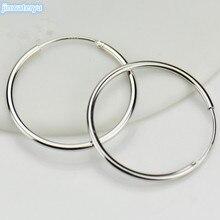 Серьги из серебра 925 пробы в европейском и американском стиле, простое увеличенное кольцо, кольцо для ушей Ms. Su Yin, ювелирное изделие