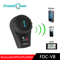 Freedconn fdcvb interfone bluetooth  interfone para capacete de motocicleta  intercomunicador  moto  500m de gps