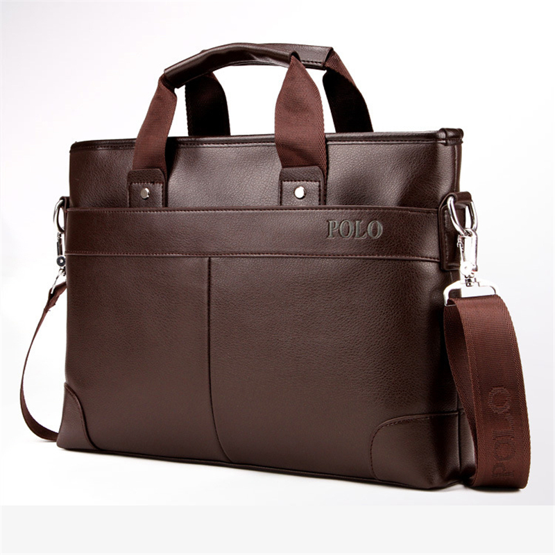 POLO Men Casual Briefcase 2018 Business Shoulder Bags pu Leather Messenger Bags Computer Laptop Handbag Bag Men's Travel Bag