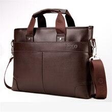 POLO Men Casual Briefcase 2018 Business Shoulder Bags pu Leather Messenger  Bags Computer Laptop Handbag Bag c4dbd9703f9d2