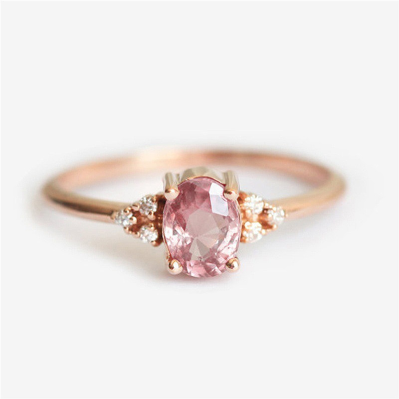 ROMAD Pink CZ Engagement Rings for Women Rose Gold Wedding Ring Dainty Valantine's Gift for Girl Friends Romantic Jewelry R4 4