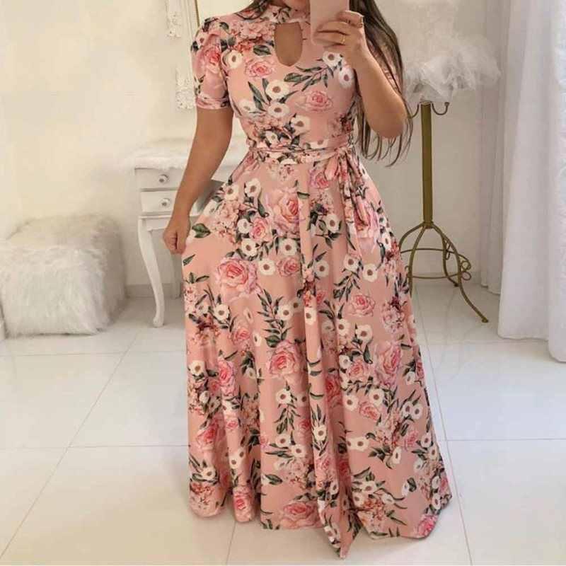 Летние сексуальные элегантные винтажные пляжные вечерние женские длинные платья больших размеров, черные платья для девочек с цветочным принтом в африканском стиле, модные платья макси